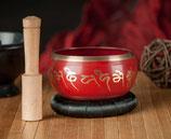Klangschale Lotus, rot