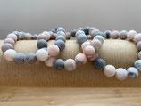 Mala/Armband Zebrajaspis rosa elastisch