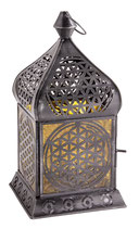 Orientalisches Licht Blume des Lebens (Gelbglas)