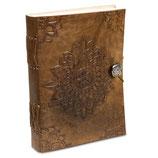 Notizbuch Mandala mit Ledereinband