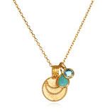 SATYA Halskette Blauer Topaz - Türkis - Mond
