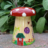 Ruby Red Solid wood Toadstool