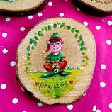Wooden Elf Plaque