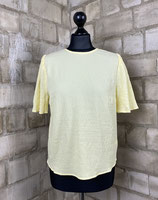 light yellow puff Top