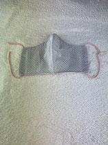 Textilmaske aus 100% Baumwolle *Grau gepunktet*