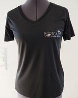 Damen Sport Shirt V-Ausschnitt mit Logo