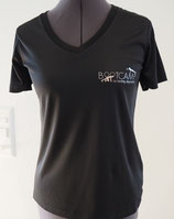 Women's Short Sleeve Shirts V-Neck with Logo