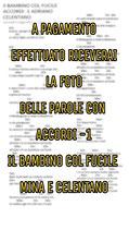 ACCORDI E TESTO IL BAMBINO COL FUCILE ADRIANO CELENTANO E MINA (LE MIGLIORI)