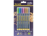 Securit Kreidemarker fein Metallic 1mm, 7er Set