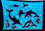 Pareo Delfine Blau / Schwarz