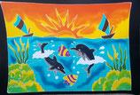 Pareo Sonnenuntergang Delfine Schiff