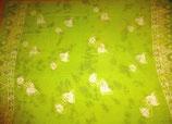 Pareo Batik Grün mit Fischli-Aufdruck