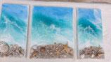 ART Ocean Resinbilder 3er SET unregelmässige Breiten