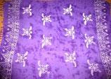 Pareo Batik Violett mit Schildkröten-Aufdruck