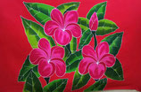 Pareo Pink Plumeria rot