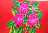 Pareo Pink Plumeria orange