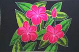 Pareo Pink Plumeria schwarz