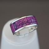 Zingst-Ring aus 925-Sterlingsilber und Hightech Ceramic - Farbe: lila