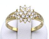 Damenring aus 333-Gelbgold poliert mit Zirkonia  024/58/Z/GG/333