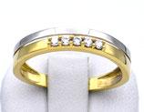 Damenring aus 333-Gold bicolor mit Zirkonia  200/58/Z/GG/333