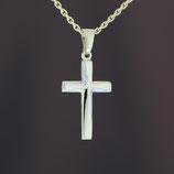 """Anhänger """"Kreuz"""" aus 333-Gelbgold mit teilweiser Weißvergoldung"""