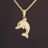 """Anhänger """"Delfin"""" aus 333-Gelbgold"""
