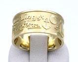 Insel-Ring Zingst aus 585-Gelbgold poliert, teilmattiert  001/ZR/GG/585