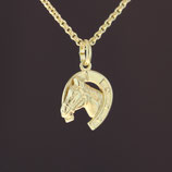 """Anhänger """"Pferd"""" aus 333-Gelbgold"""
