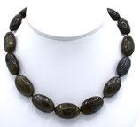 Halskette aus Labradorit und 925-Sterlingsilber