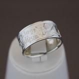 Zingst-Ring aus 925-Sterlingsilber, hell