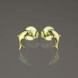 """Ohrstecker """"Delfin"""" aus 333-Gelbgold"""