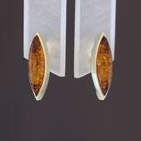 Ohrstecker aus 333-Gelbgold und baltischem Naturbernstein