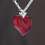 """Anhänger (Collier) """"Crown of my heart"""" aus 925-Sterlingsilber und Brandlack"""