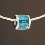 Zingst-Bead (Collier) aus 925-Sterlingsilber - Farbe: türkis
