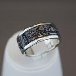Zingst-Ring aus 925-Sterlingsilber und Hightech Ceramic - Farbe: schwarz