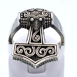 Thors Hammer als Ring aus 925-Sterlingsilber  003/HR/TH/925