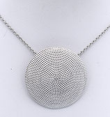 "Collier ""Dots"" No.2 aus 925er Sterlingsilber, 35mm Durchmesser, rhodiniert  240190-h049"