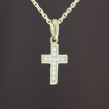 """Anhänger """"Kreuz"""" aus 333-Gelbgold und Zirkonia"""