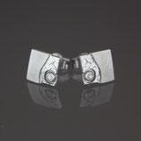 Ohrstecker aus 925-Sterlingsilber und Diamant in Brillantschliff (0,01 ct.)