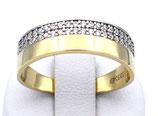 Damenring aus 333-Gelbgold poliert mit Zirkonia  001/59/Z/GG/333