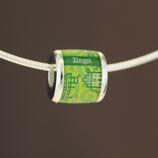 Zingst-Bead (Collier) aus 925-Sterlingsilber - Farbe: grün