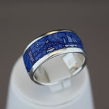 Zingst-Ring aus 925-Sterlingsilber und Hightech Ceramic - Farbe: blau