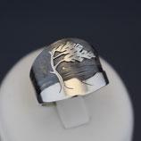 """Ring """"Windflüchter"""" aus sulfiertem 925-Sterlingsilber"""