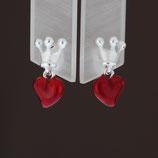 """Ohrhänger """"Crown of my heart"""" aus 925-Sterlingsilber und Brandlack"""