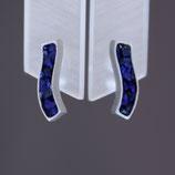 Ohrstecker aus rhodiniertem 925-Sterlingsilber und Lapislazuli