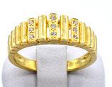 Damenring aus 585-Gelbgold poliert mit Diamanten  011/58/SC/GG/585