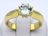 Damenring aus 585-Gelbgold poliert mit Aquamarin  025/56/AQ/GG/585