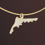 Insel-Anhänger Fischland-Darß-Zingst  aus 585-Gelbgold