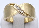 Damenring aus 585-Gelbgold und Brillanten     001/56/FC/GG/585