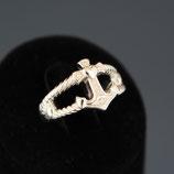 Ring mit Ankermotiv aus 925-Sterlingsilber und Zirkonia